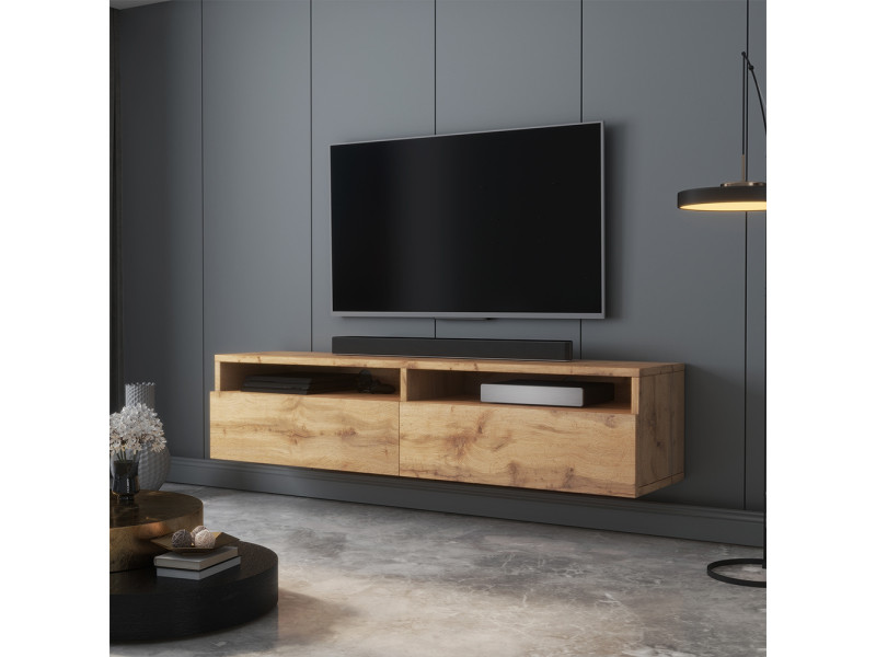 Meuble tv - rednaw - 140 cm - chêne wotan