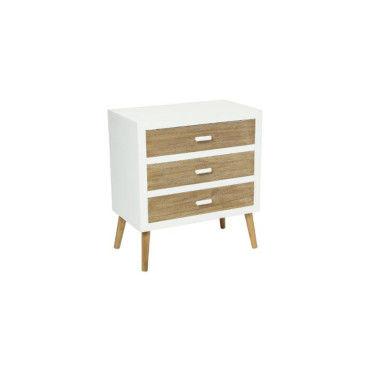 commode scandinave 3 tiroirs helga vente de atmosphera conforama. Black Bedroom Furniture Sets. Home Design Ideas