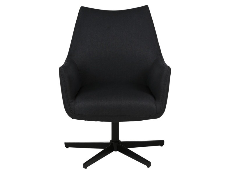 Fauteuil tissu noir kent - noir/noir - noir/noir