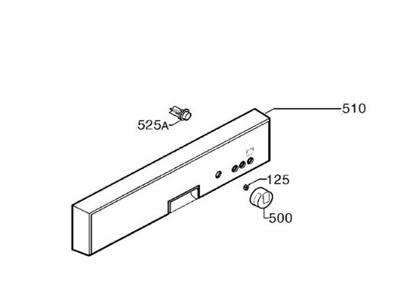 Bandeau assemble aluminium rep 510 pour lave vaisselle electrolux - 156088270