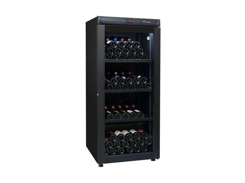 Cave à vin de vieillissement - 1 temp. - 168 bouteilles - noir - climadiff - aci-cli724 - pose libre