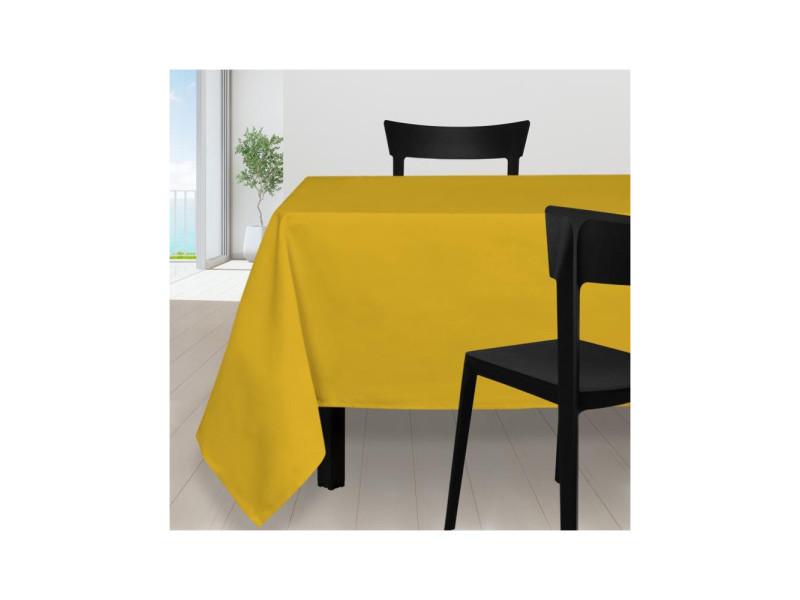 Nappe anti-tâches carrée 140x140 cm alix jaune