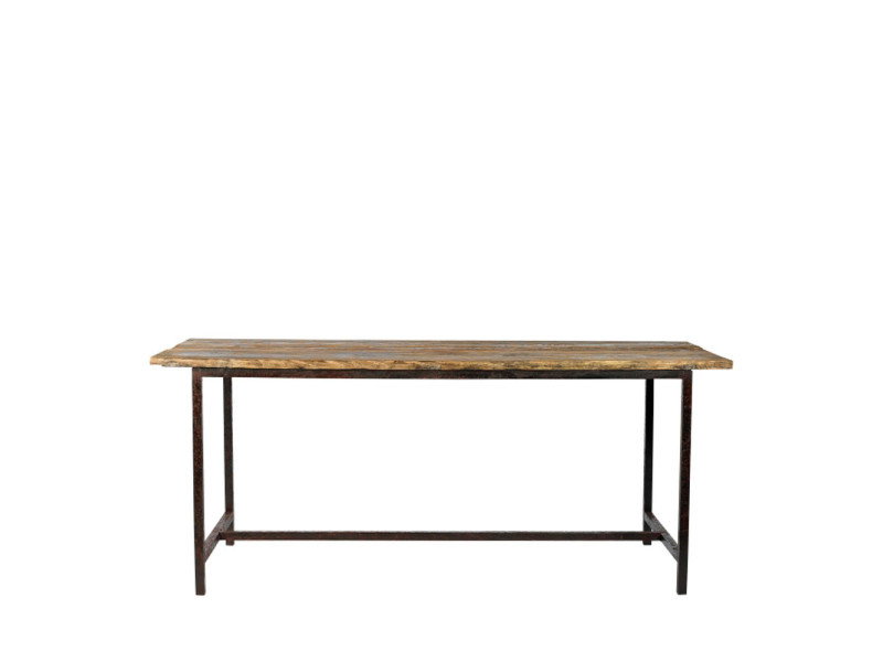 Raw - table en bois et métal - couleur - bois / métal 27096