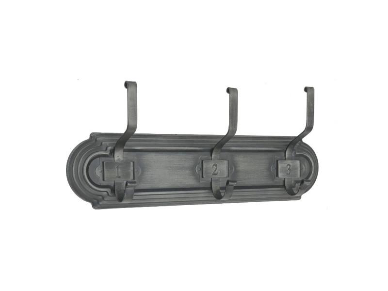 Porte manteau industriel métal fer mural 48 cm - Vente de Porte-manteau - Conforama