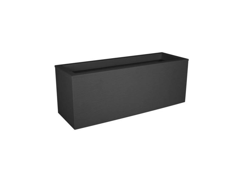 Eda plastique balconniere graphit up - 25 l - 59 x 19,5 x 22,8 cm - gris anthracite