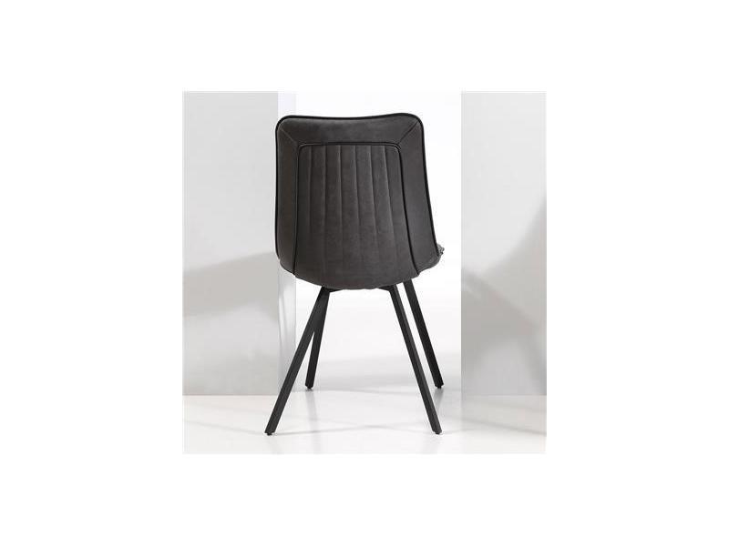 chaise salle manger design grise loane lot de 2 vente de nouvomeuble conforama - Chaise Salle A Manger Design 2