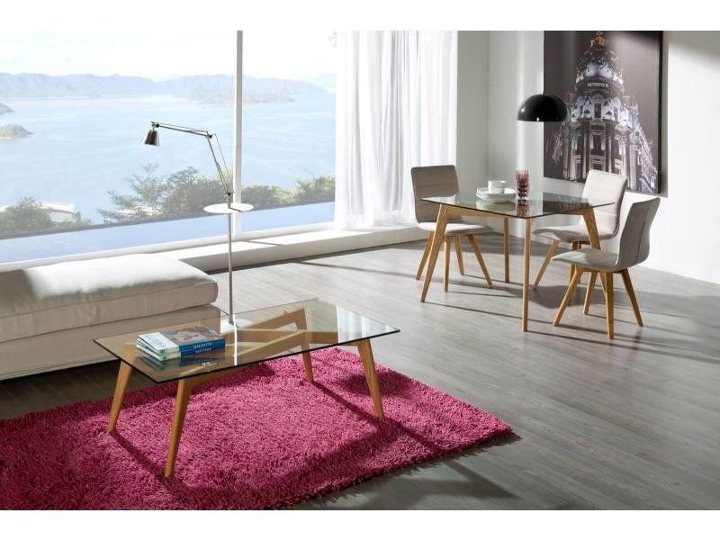 Bobochic table basse zeli bois clair