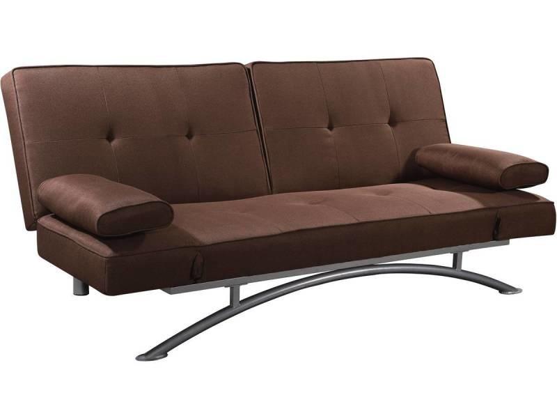 canape clic clac marina 3 places chocolat vente de habitat et jardin conforama. Black Bedroom Furniture Sets. Home Design Ideas