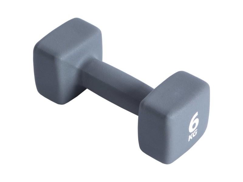 Pure2improve haltère 6 kg néoprène gris 427693