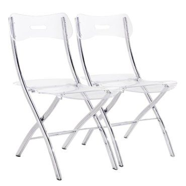 Pliantes 20100833263 Widow Plexiglas Chaises En De 2 Transparent Lot eCrxBWdo