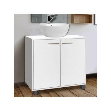Meuble sous lavabo blanc pour vasque de salle de bain vente de id market conforama - Meuble lavabo pour salle de bain ...