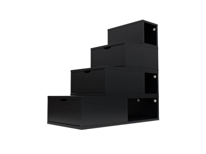 Escalier cube de rangement hauteur 100 cm noir ESC100-N