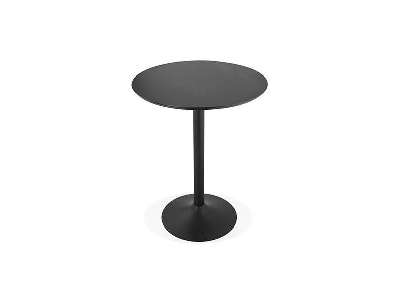 Table de bar ronde 90 cm en bois et métal noir - barman