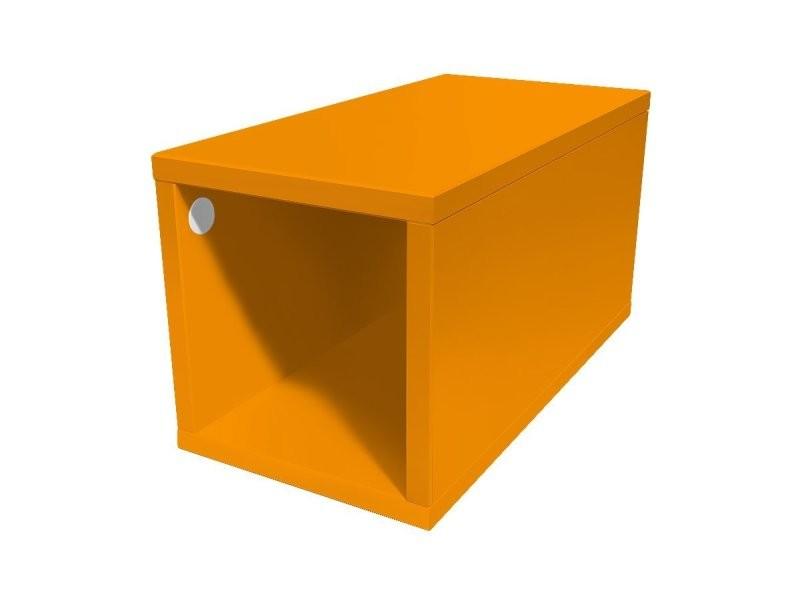 Cube de rangement bois 25x50 cm 25x50 orange CUBE25-O