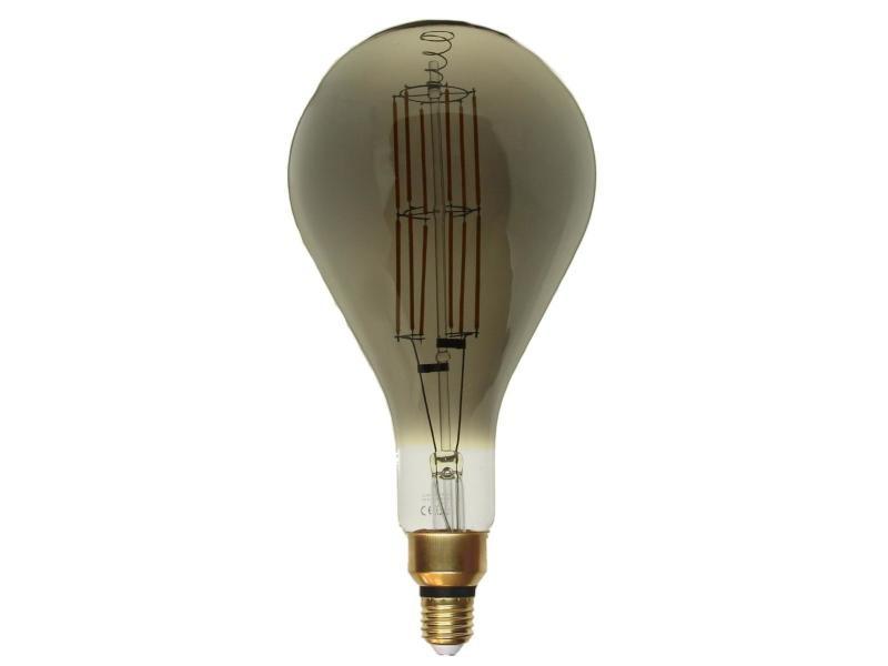 Ampoule e27 led filament dimmable 8w ps160 classique smoke - blanc chaud 2300k - 3500k