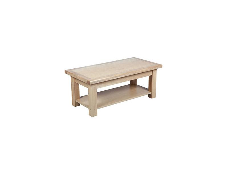 Table basse 110 cm en chêne massif - vars