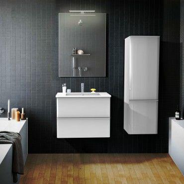 Ensemble salle de bain meuble vasque miroir 60 cm - Meuble colonne salle de bain conforama ...