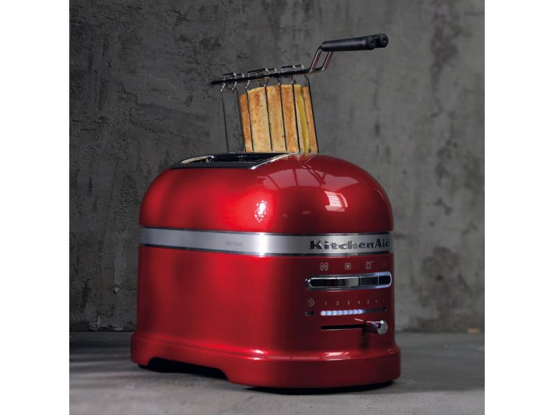 Grille pain avec 2 fentes 1250w rouge empire argent