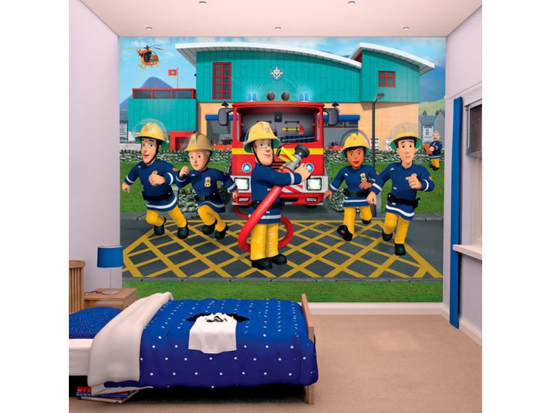 bbcdc7f3e63998 Papier peint enfant sam le pompier walltastic - Vente de Chambre complète -  Conforama