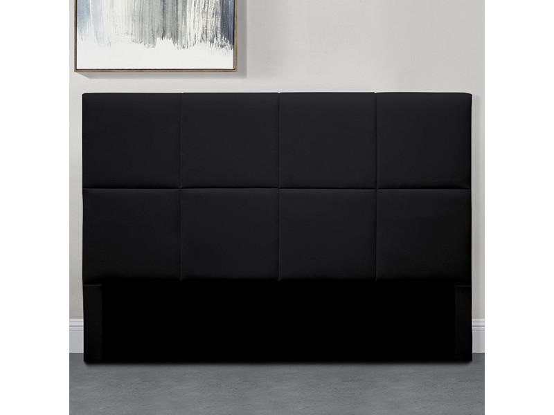 Tête de lit design alexi - noir - 160 cm