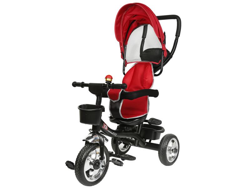 Hombuy gris tricycle enfant tricycle bébé mixte -tricycle évolutif- poussette évolutive - de 1 à 5 ans - rouge