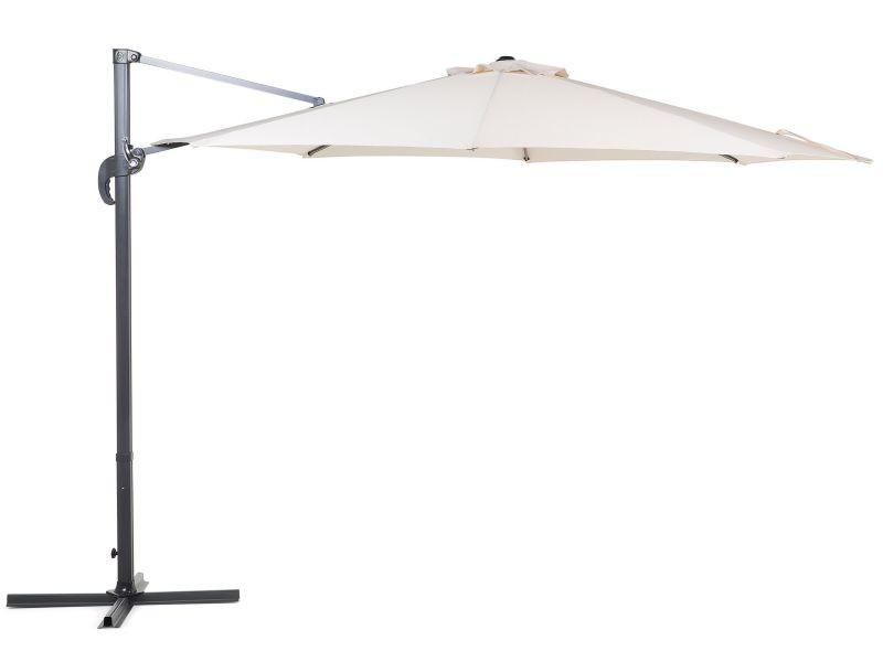 Grand parasol de jardin beige clair ø 300 cm savona 33074