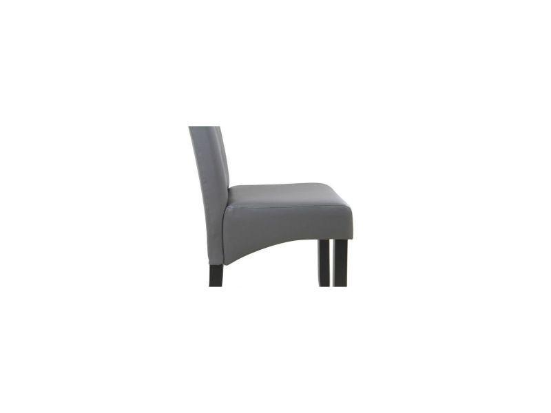 Cuba lot de 2 chaises de salle a manger simili gris