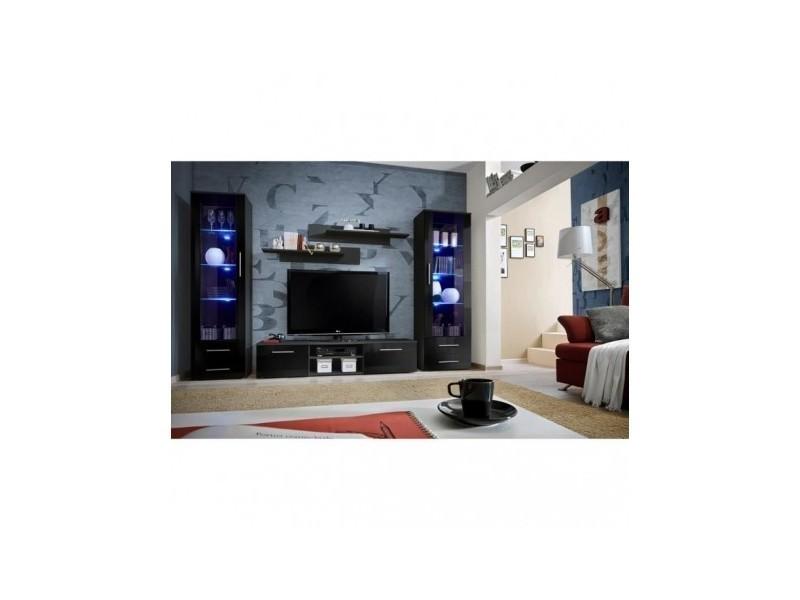 Ensemble meuble tv mural - galino c - 320 cm x 190 cm x 45 cm - noir