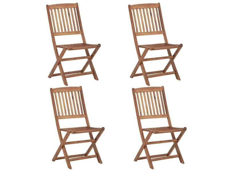 Esthetique sièges de jardin selection lima chaises pliables d'extérieur 4 pcs bois d'acacia solide