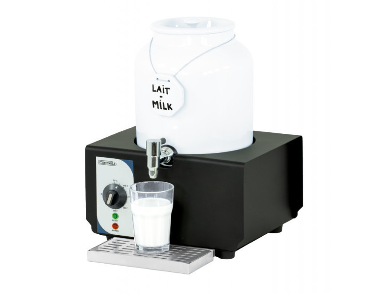 Distributeur de lait chaud professionnel en porcelaine 10 l - casselin -