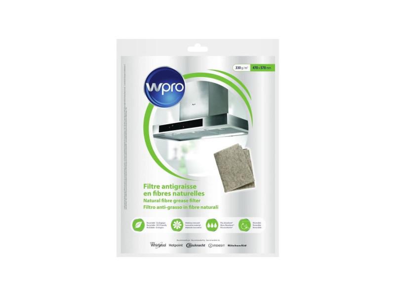 Ngf331 filtre antigraisse universel en fibres naturelles de lin - 330g/m² - 47 x 57 cm - hyper absorbant et écologique WPRNGF331