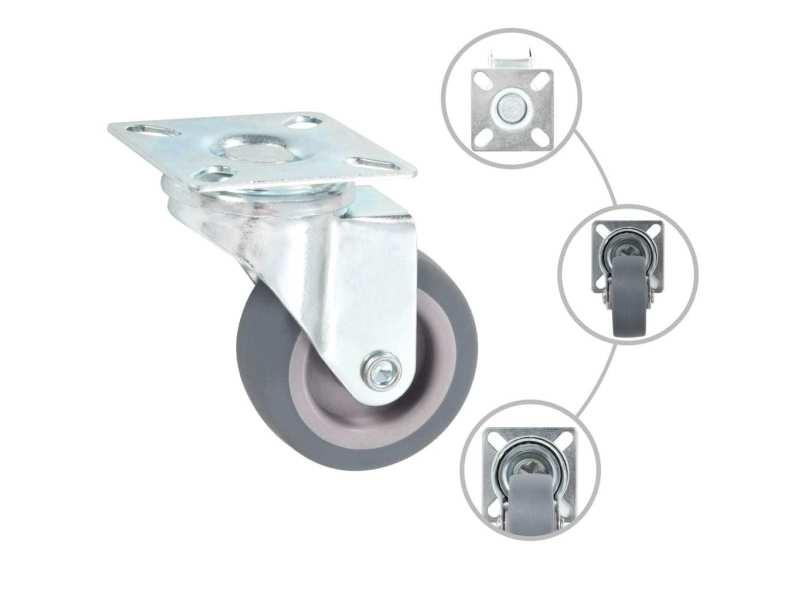 Icaverne - manutention de matériaux categorie 32 pcs roulettes pivotantes 50 mm