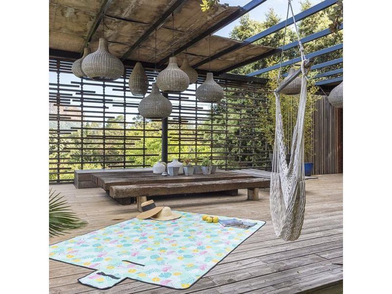 Tapis couverture multi-usage imperméable et pliable - pique-nique, camping, plage - bahamas 150 x 200 cm