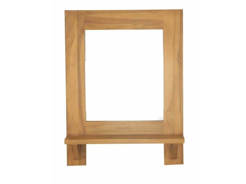 Miroir teck 60x80 cm spirit - Vente de Miroir de salle de bain ...
