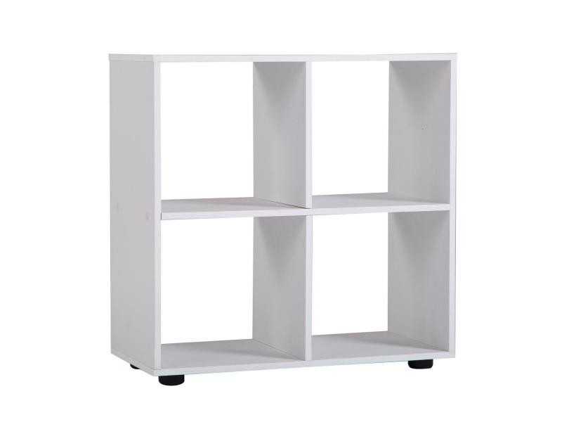 etag re cuatro cube de rangement avec 4 casiers m lamin blanc mat conforama. Black Bedroom Furniture Sets. Home Design Ideas