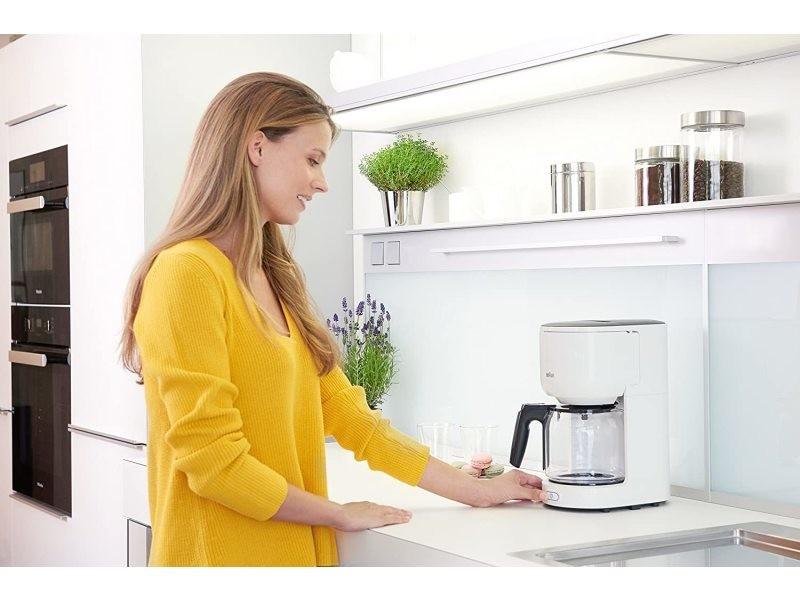 Cafetière électrique pour 10 tasses 1000w blanc