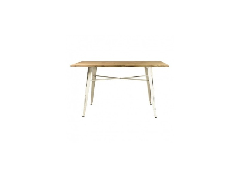 Table à manger industrielle bois et fer revolution
