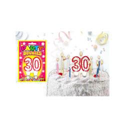Bougies chiffres anniversaire - bougies chiffres anniversaire 30 - bougies chiffres anniversaire 30