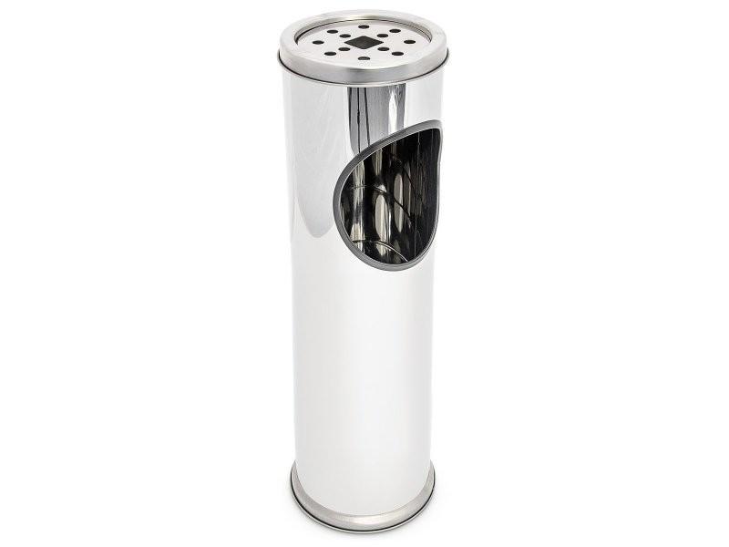 Cendrier extérieur avec poubelle en acier inoxydable 52 cm helloshop26 2013008
