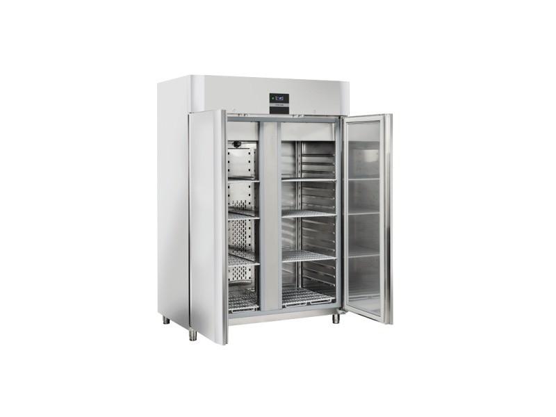 Armoire réfrigérée négative inox 1105 litres - gn 2/1 - cool head - r290 2 portes pleine