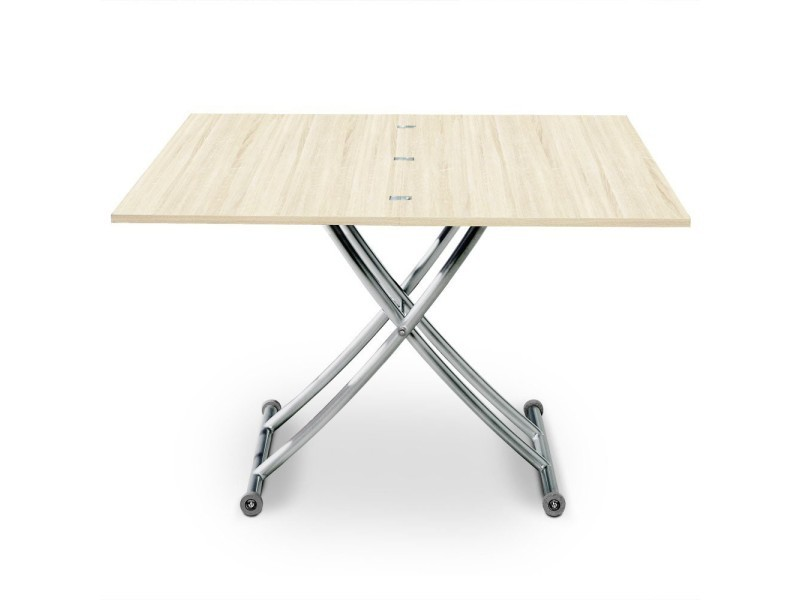 Table basse relevable philadelphia chêne clair