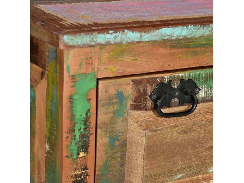 Icaverne - bancs coffres gamme banc de rangement de chaussures bois massif de récupération