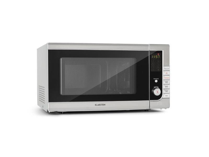 Klarstein combiwave four micro-ondes 43 litres 1000w / grill 1300w - 11 niveaux de puissance - ecran led - inox TK23-CombiWave