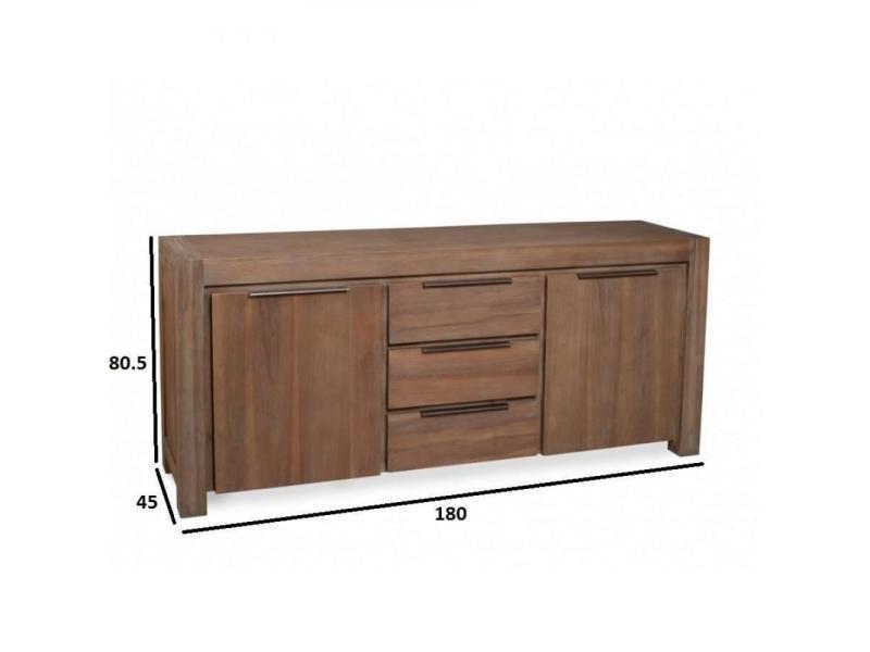 top buffet portes tiroirs nina with lit nina conforama. Black Bedroom Furniture Sets. Home Design Ideas