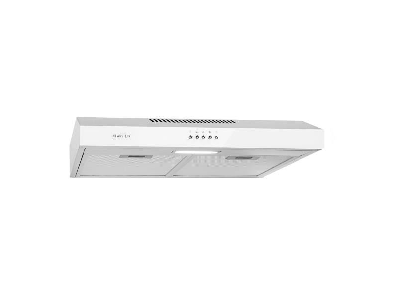 Klarstein contempo neo hotte aspirante encastrable 60 cm , extraction 175m³ /h , éclairage led , 67 db , classe c , inox blanc CGCH5-Contempo-PWH