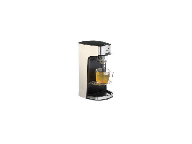 Senya machine à thé tea time, théière électrique beige compatible thé en vrac ou en sachet