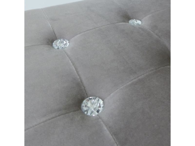 Banc banc coffre pliable diamant - 76 x 38 x 38 cm - gris