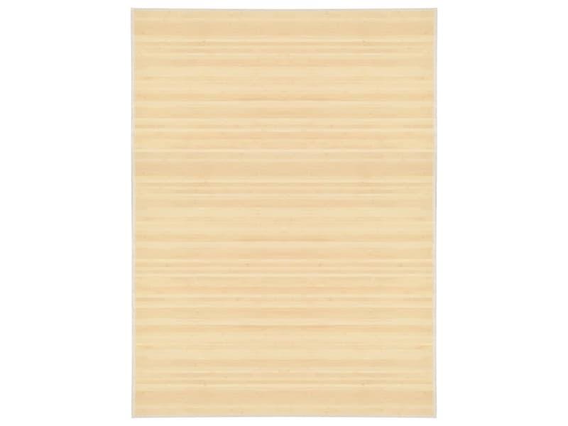 Vidaxl tapis bambou 150 x 200 cm naturel 247202