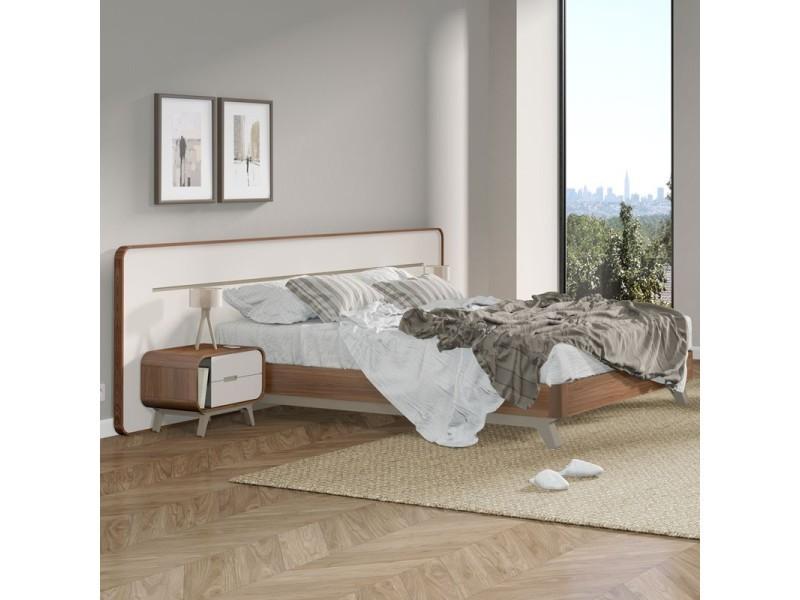 cadre de lit t te de lit fifty l 280 x l 201 x h 85 neuf vente de tousmesmeubles. Black Bedroom Furniture Sets. Home Design Ideas