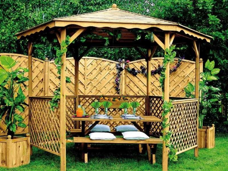Tonnelle de jardin en bois lora B_0700012